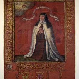 Museo carmelitano. Estandarte canonización.