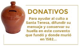 Donativos. Santa Teresa de Jesús