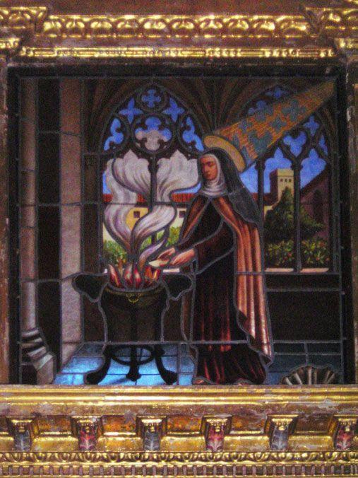 La Santa quema, por obediencia, el Cantar de los Cantares