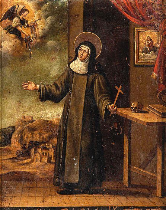 Santa Teresa en su estudio