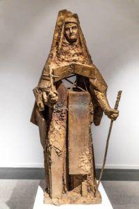 Santa Teresa.Pieza de bronce que el escultor Venancio Blanco